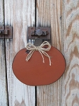 Primitive Wooden Pumpkin Hanger with Jute Bow