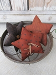 Primitive Harvest Fall Star Bowl Fillers Set of 3