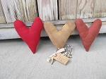 Primitive Valentine Hearts Set of 3 Hand Made Bowl Fillers