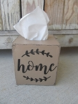 Primitive Home with Vine Hand Painted Tissue Box Cover with Color Options