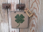 Primitive St Patrick's Day Clover Shamrock Irish Hand Painted Sign Plaque
