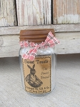 Primitive Sweet Treats Easter Bunny Pint Mason Jar with Rusty Lid