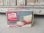 Antique Blue Ribbon Neapolitan Ice Cream 1/2 Gallon Vintage Box Michigan