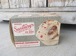 Antique Sanitary's Chocolate Marshmallow Ice Cream 1/2 Gallon Vintage Box Ohio