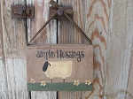 Primitive Simple Blessings Daisy Sheep Vintage Hand Painted Hanging Book