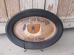 Primitive Hand Painted Count Your Blessings Sheep Repurposed Stoneware Platter