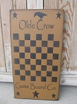 Primitive Olde Crow Gameboard Co. with Stars Checker Game Board