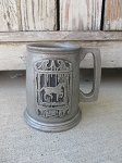 Vintage Pewter Colonial Horse Entertainment 1801 Tankard Mug with Markings