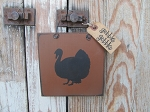 Primitive Autumn Fall Thanksgiving Wooden Turkey Plaque