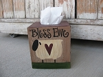 Primitive Bless Ewe Sheep Tissue Box Cover