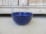 Antique Vintage Cobalt Blue Stoneware Mixing Bowl