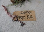 Primitive Santa's Magic Key Ornament Make-Do