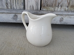 Antique Primitive Stoneware Ironstone Linen White Pitchers Choice