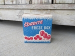Antique Vintage 1940's Kordite Freze Box Pint Size