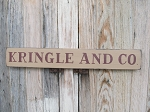 Primitive Christmas Kringle and Co. Horizontal Hand Painted Sign