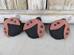 Primitive Hand Made Lady Bug Bowl Fillers Set of 3