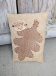 Primitive Fall Autumn Welcome Fall Tan Leaf Pillow Tuck