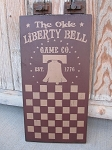 Primitive Americana Patriotic Liberty Bell Game Company Checker Game Board