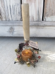 Antique Primitive Vintage Wooden Handled Potato Masher Timer Tea Light Decoration