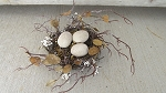 Primitive Chic Spring Thyme Bird Nest with Cream Colored Eggs