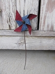 Primitive Country Americana Mini Pinwheel