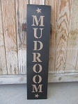 Primitive Mudroom with Stars Vertical Hand Painted Sign