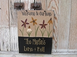Primitive Multi Colored Wild Flower Sign-Vertical Arrangement