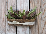 Primitive English Mustard Rectangle Basket with Primitive Rosehip and Herb Floral