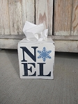 Primitive Noel with Snowflake Hand Painted Tissue Box Cover with Color Choices