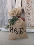 Primitive Winter Burlap Sack Decoration with Saying and Color Choices