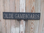 Primitive Country Olde Gameboards Hand Stenciled Wooden Sign