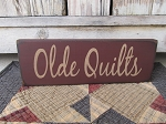 Primitive Olde Quilts Hand Painted Wooden Sign with Color Choices
