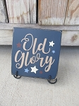 Primitive American Old Glory Hand Painted Sign Plaque