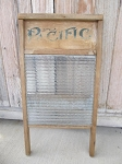 Antique Vintage Primitive Pacific Glass Washboard Scrub Board Laundry Room Decor
