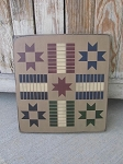 Primitive Colonial Star Parcheesi Hand Stenciled Game Board