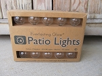 Primitive Everlasting Glow Patio Lights Strand 20 Count Electric Round Bulb Indoor/Outdoor