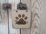 Primitive Personalized Dog or Cat Paw Hand Stenciled Wooden Sign Plaque