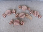 Primitive Winter Christmas Peppermint Candies  Set of 5 Bowl Fillers