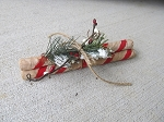 Primitive Christmas Holiday Hand Wrapped Peppermint Sticks Bundle