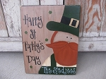 Primitive Personalized St Patricks Day Leprechaun Hand Painted Sign