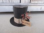 Primitive Thanksgiving Hand Painted Pilgrim Paper Mache Hat