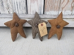 Primitive Style Star Bowl Fillers Set of 3