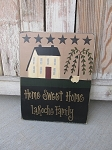 Primitive Things Saltbox Willow and Sheep Personalized Sign with Stars