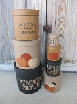 Primitive Pumpkin Patch Fall Autumn Set of 7 Hand Painted Round Nesting Stacking Boxes