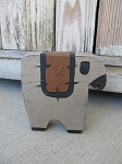 Primitive Wooden Sheep with Star Quilt Hand Made