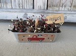 Primitive Americana Patriotic Red Truck with Flag and Daisies Vintage Bread Tin Loaf Pan Light