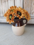 Vintage Primitive RRP Co. Stoneware Two Tone Brown and  White Pitcher