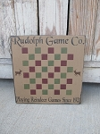 Primitive Rudolph Game Co. Winter Christmas Gameboard Checkerboard