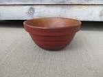 Primitive Treenware Reproduction Barn Red Ribbed 6 1/2