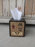 Primitive Sheep Sampler Hand Painted Tissue Box Cover